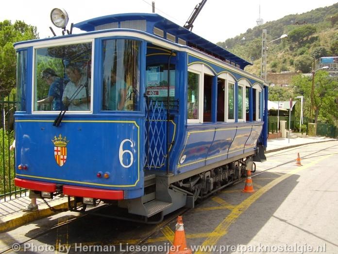 Tramvia Blau Tibidabo Barcelona