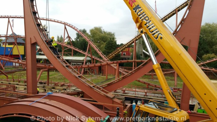 Afbraak Looping Star Slagharen 07-10-2016