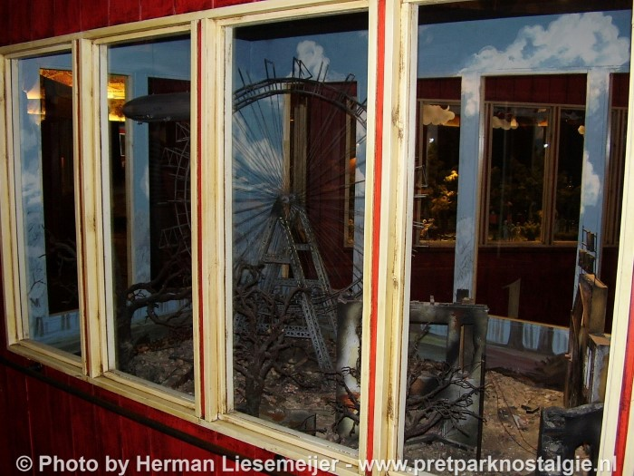 Model reuzenrad Wenen na bombardement