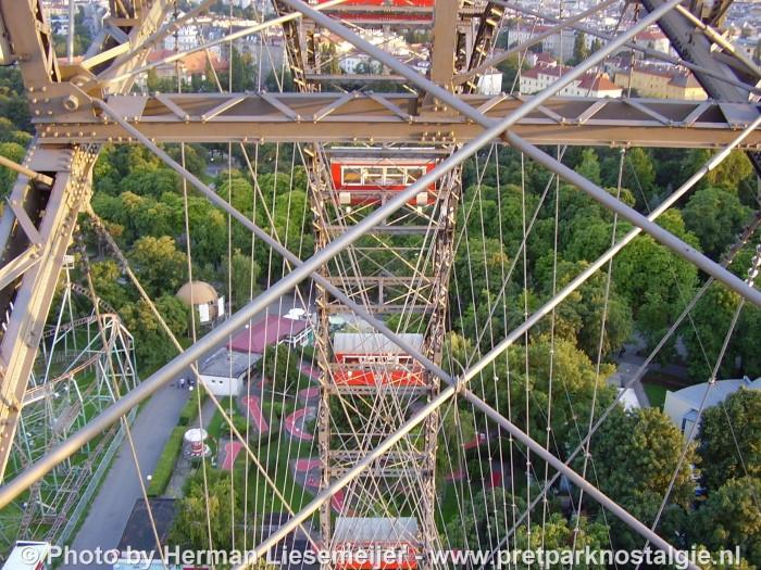 Een blik vanuit het reuzenrad van Wenen