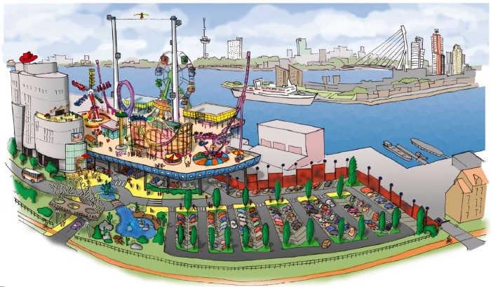 Attractiepark Rotterdam: Een kijkje op de bouwplaats