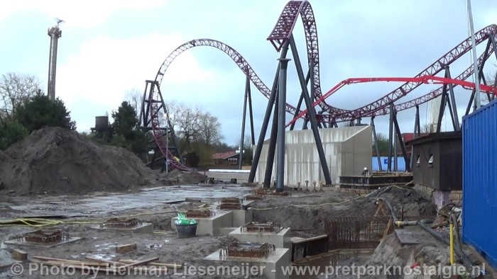 Attractiepark Slagharen - Gold Rush in aanbouw