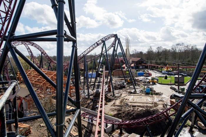 Pretparken in Nederland Attractiepark Slagharen bouwplaats Gold Rush
