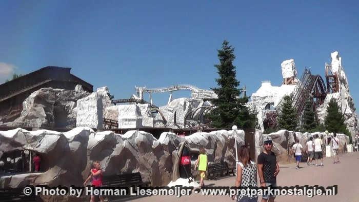 Gardaland - De Mammut achtbaan in het nieuwe gedeelte