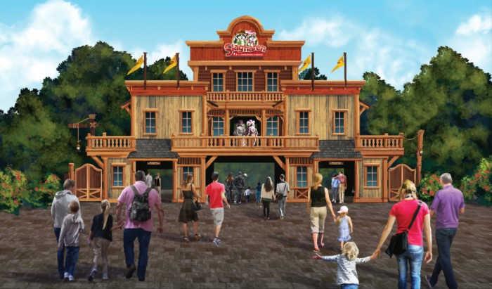 Nieuwe entree Attractiepark Slagharen