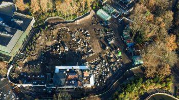 Dronebeeld bouwplaats Max & Moritz
