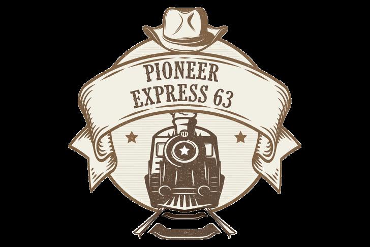 Het logo van de Pioneer Express 63